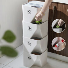 Kitchen Bathroom Trash Can Stacked Sorting Trash Bin Recycling Household