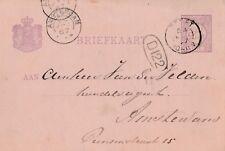 Briefkaart Amsterdam aus dem Jahr 1887 beschrieben