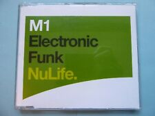 """M1 """"Electronic Funk"""" NuLife 3-track CD 2000 NEW"""