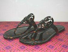 NIB Tory  Burch Miller Tortoise Flat Sandals Size U.S.8