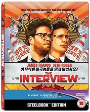 The Interview (Ultraviolet) Steelbook Region Free Blu Ray NEW & SEALED