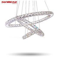 Modern LED Crystal Chandelier Lights Lamp For Living RoomHanging Ceiling Fixture