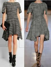 Stella McCartney Ayana asymmetric wool-blend tweed mini dress I 38 XS UK 6 US 2