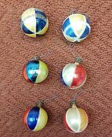 Vintage Glass Christmas Ornaments Set of 6