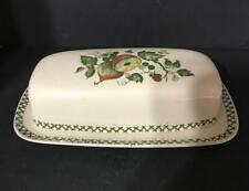 Staffordshire Johnson Bros Old Granite Arbor Pattern Butter Dish Vintage