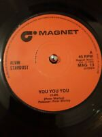 "Alvin Stardust ‎– You You You Vinyl 7"" Single UK MAG 13 1974"