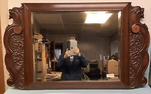 """Griffin Solid Mahogany Beveled Mirror  49""""x29 1/2"""""""