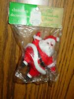 (1) VINTAGE Bradford - SANTA Christmas Ornament - SEALED Original Package -JAPAN