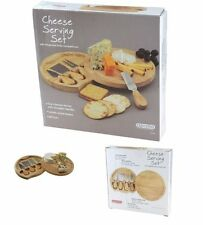 NEUF KITCHEN CRAFT en bois ROBUSTE Cheese Board et fromage Couteau Serving Set