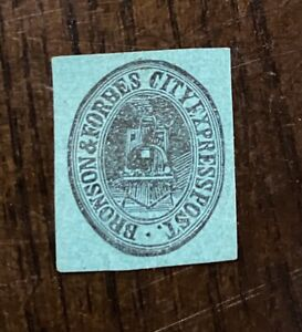 Vintage US Local/City Post Stamp, Bronson & Forbes City Express Post