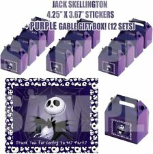 Nightmare Before Christmas Jack Party Favor Boxes with Thank You Decals Stickers