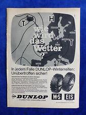 Dunlop Reifen M+S Eis Spikes - Werbeanzeige Reklame Advertisement 1965 __ (171