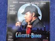 The CRUCIFER Of BLOOD Laserdisc Charlton HESTON 1991 THRILLER Sherlock HOLMES