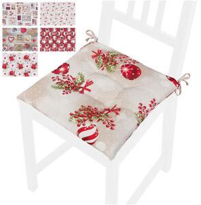 Cuscino sedia natalizio addobbi natale morbido cotone coprisedia universale casa