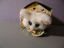 VINTAGE 1998 POUND PUPPIES PURRIES CAT KITTEN WHITE MARY MEYER #12 BOXED