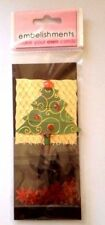 Christmas tree card topper snowflakes  embellishment card making crafts