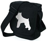Schnauzer Dog Bag Shoulder Bags Metallic Silver on Black Handbag Xmas Gift