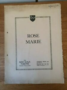 Westminster Bank Dramatic and operatic society 1946. Rose Marie theatre program.