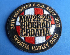 RARE HARLEY DAVIDSON 20th European HOG Rally 2011 Croatia Patch
