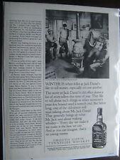 "1983 Jack Daniel's Original Print-1/2 pg-Telling Stories Around Stove-8.5 x10.5"""