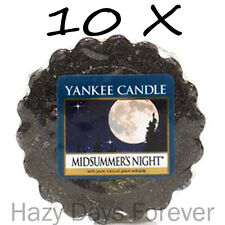 10 YANKEE CANDLE WAX TARTS Midsummers Night tartlets musk, patchouli and sage