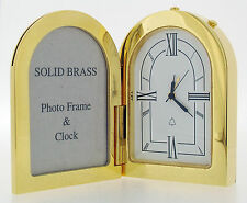 Miniature Novelty Picture Frame Alarm Clock in Gold Plating