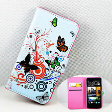 New Flower Magnetic Flip Leather Wallet Stand Phone Cover Case For HTC One M7