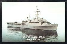 Amphibious Transport Dock USS CORONADO LPD-11 Navy Ship Postcard