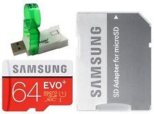 Samsung EVO Plus 64GB microSD 80MB/s UHS-I C10 64G microSDXC w/ori A+V38 USB 3.0