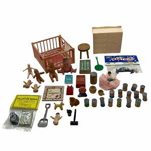 Vintage Dollhouse Groceries Nursery Babies & Accessories Lot