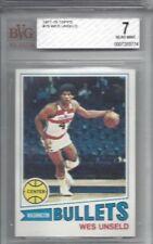 1977 Topps NBA basketball card #75 Wes Unseld Washington Bullets graded BVG 7 NM