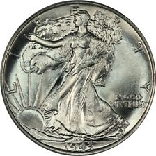1943 Walking Liberty Half Dollar - PCGS MS66 CAC- Superb Gem BU Blazer #2, PQ!