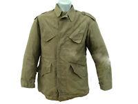Dutch Army Surplus Vintage Jacket Military NATO Olive Green Cotton Field Combat
