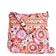 Vera Bradley tripla zip Hipster Crossbody in fioriture Pixie