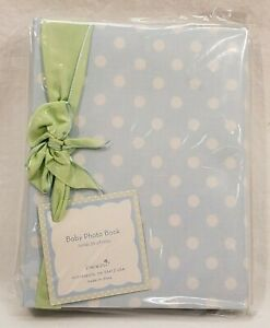 **Lot of 3** Baby Photo Books - Blue with White Polka Dots - Baby Boy