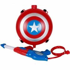 MARVEL Avengers Captain America Backpack Water Gun Squirt Shoots for Kids