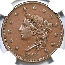 1836 N-7 R-4 NGC XF 45 Matron or Coronet Head Large Cent Coin 1c