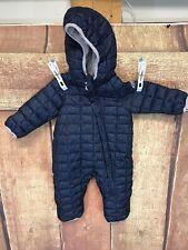 Snozu Blue Quilted Snowsuit Boys Size 3/6 Months