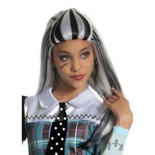 Girls Child Monster High Frankie Stein Frankenstein White Black Costume Wig