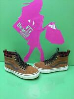 VANS Classic Sk8 Hi Brown Suede Lace Up Skate Shoes Men's Size 5  Women's 6.5