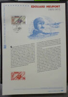 2016 FRANCE EDOUARD NIEUPORT AVIATION FIRST DAY OF ISSUE STAMP SHEET