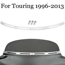 Stainless Steel Slotted Batwing Fairing Windshield Trim Fit for Harley Tri Glide