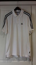 men's size S 100% cotton white adidas - the brand with the 3 stripes - polo top