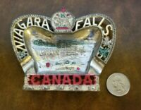 Vintage Niagara Falls Canada Aluminium Ash Tray Crown Shaped Made in Japan 50s?