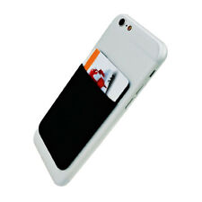 ES_ Phone Wallet Credit ID Card Holder Pocket Adhesive Sticker for iPhone Samsun