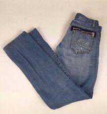 D *KLIC New Classic Jean Womens Distressed Straight Leg Zipper Pockets Size 29