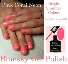 BLUESKY NEON PINK CORAL PINK LIPS A74 A074 UV LED NAIL GEL FREE P & P NEW