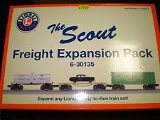 LIONEL THE SCOUT FREIGHT EXPANSION PACK 6-30135 NIB NEW