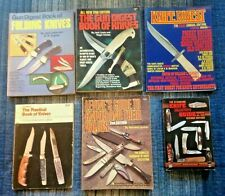 LOT 6 VINTAGE KNIVES GUN COLLECTING CATALOG BOOK LEVINES 2ND ED KNIFE DIGEST 1ST