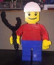 """LEGO Creator Modified Giant Minifigure 3723 20"""" Custom Build 1800+ Parts"""